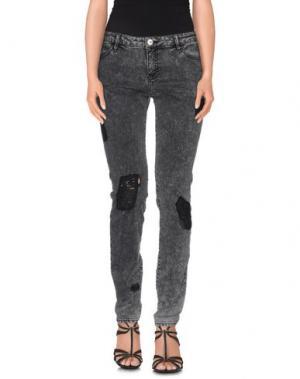 Джинсовые брюки EACH X OTHER. Цвет: свинцово-серый
