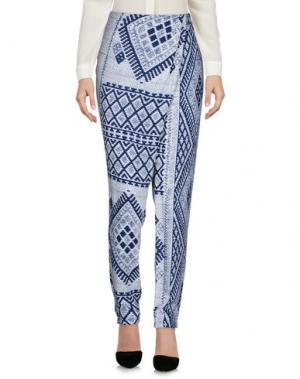 Повседневные брюки HOLY GHOST. Цвет: темно-синий