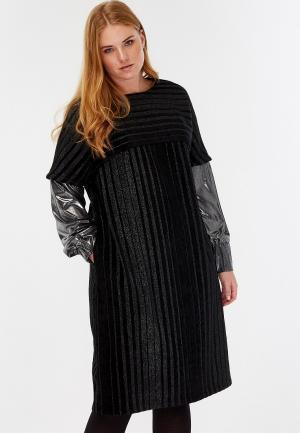 Платье Lessismore. Цвет: черный