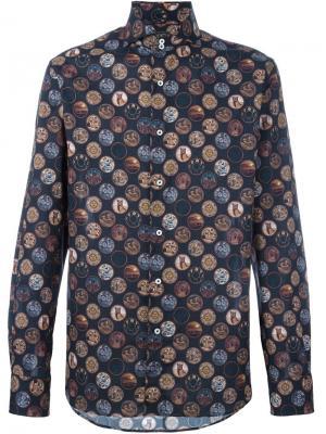 Рубашка с принтом мистических элементов Gabriele Pasini. Цвет: чёрный