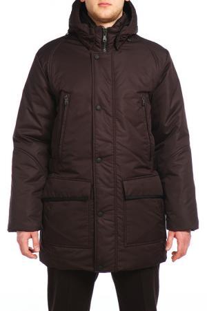 Куртка XASKA. Цвет: коричневый