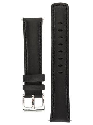 Спортивный ремешок для часов из кожи теленка с водостойкостью 100 м. Ширина от 18 до 24 мм. Signature. Цвет: черный