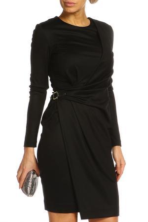 Платье с длинным рукавом Salvatore Ferragamo. Цвет: черный