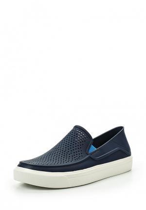 Слипоны Crocs. Цвет: синий
