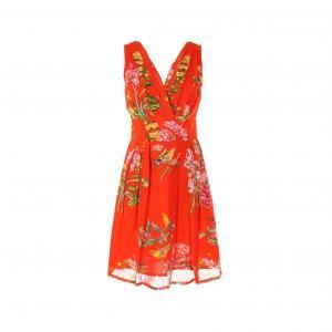 Платье без рукавов с цветочным рисунком RENE DERHY. Цвет: наб. рисунок красный