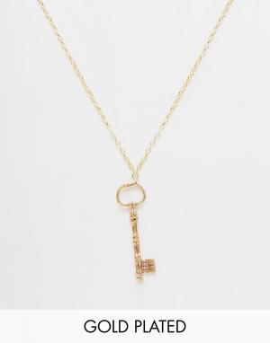 Only Child Ожерелье с подвеской Key. Цвет: золотой
