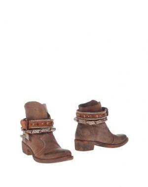Полусапоги и высокие ботинки FABBRICA MORICHETTI. Цвет: светло-коричневый