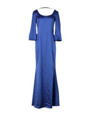 Длинное платье TENAX. Цвет: синий