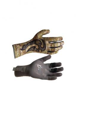 Перчатки рыболовные BUFF Sport Series MXS Gloves BS Maori Hook (хаки камуфляж). Цвет: хаки,серый
