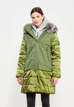 Куртка утепленная Alpex. Цвет: зеленый