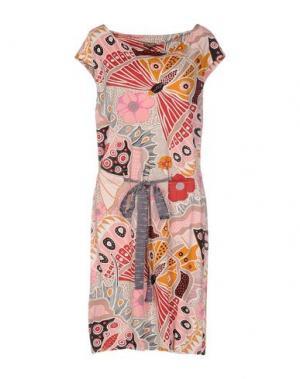 Платье до колена MALÌPARMI. Цвет: розовый
