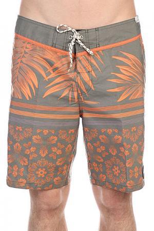 Шорты пляжные  Deepjunglerem Deep Jungle Remix Quiksilver. Цвет: оранжевый,зеленый