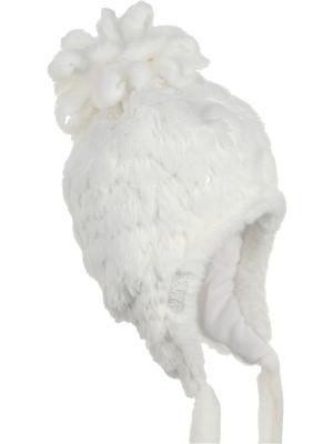 Шапка-ушанка Olle. Цвет: белый