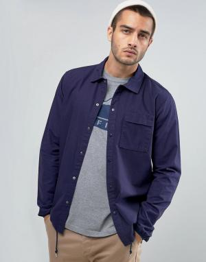 Penfield Темно-синяя рубашка из ткани рипстоп. Цвет: темно-синий
