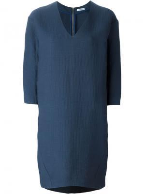 Платье Eva c V-образным вырезом D.Efect. Цвет: синий