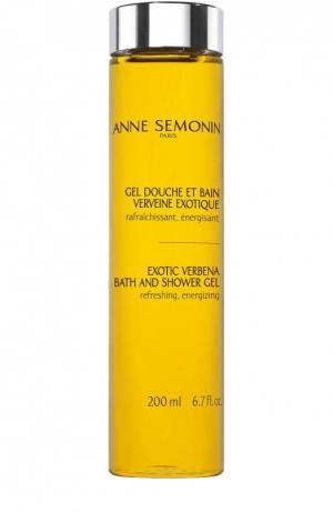 Гель для душа и ванны с олигоэлементами Exotic Verbena Anne Semonin. Цвет: бесцветный