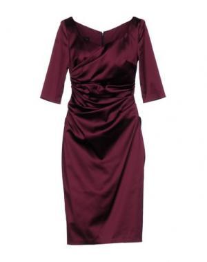 Платье до колена TALBOT RUNHOF. Цвет: баклажанный