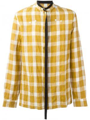 Рубашка в клетку Raf Simons. Цвет: жёлтый и оранжевый