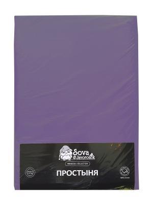 Простыня 1,5 сп. Sova and Javoronok. Цвет: фиолетовый