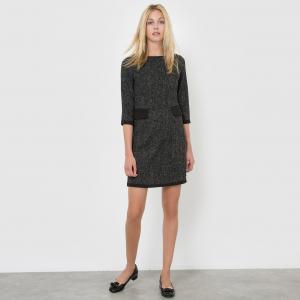 Платье прямое MOLLY BRACKEN. Цвет: черный