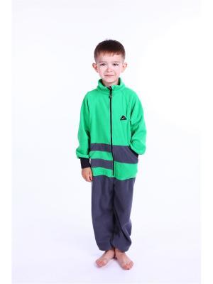 Комбинезон ЛисФлис. Цвет: зеленый, серый