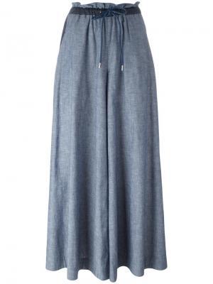 Широкие брюки Sacai. Цвет: синий