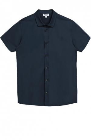 Хлопковая рубашка с короткими рукавами Aletta. Цвет: темно-синий