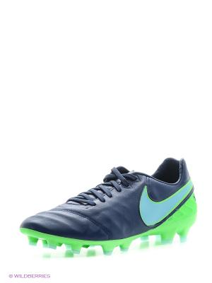 Бутсы TIEMPO LEGACY II FG Nike. Цвет: синий, голубой
