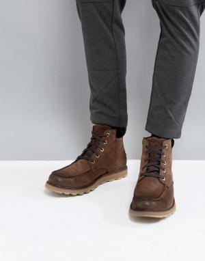 Sorel Водонепроницаемые ботинки со строчкой на носке Madson. Цвет: коричневый