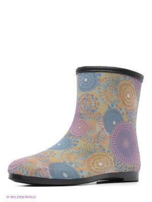 Резиновые сапоги KEDDO. Цвет: голубой, фиолетовый