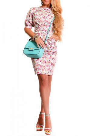 Платье LASKANY collezioni. Цвет: жасминовый