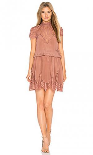Платье nela RAVN. Цвет: rose