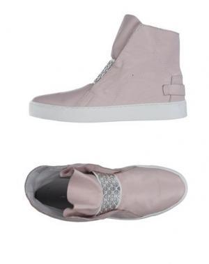 Высокие кеды и кроссовки LEA FOSCATI. Цвет: светло-розовый