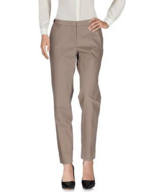 Повседневные брюки PESERICO SIGN. Цвет: голубиный серый