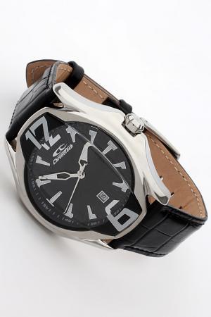 Часы наручные Chronotech. Цвет: черный, сталь