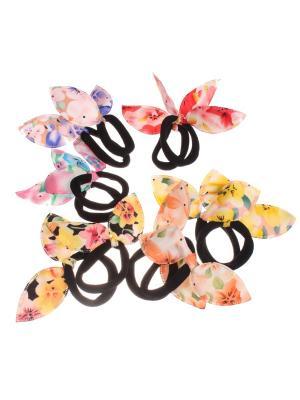 Бантики на резинке с ушками Радужки. Цвет: черный, зеленый, розовый