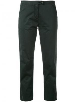 Укороченные брюки кроя слим Woolrich. Цвет: зелёный