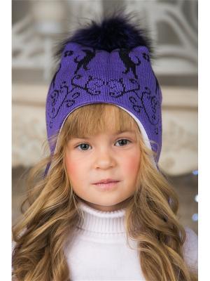 Шапка LFC. Цвет: фиолетовый, черный