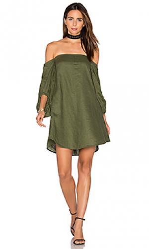 Мини платье mogul PFEIFFER. Цвет: оливковый