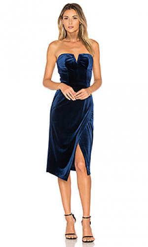 Платье velvet allure Yumi Kim. Цвет: королевский синий