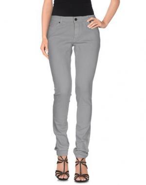 Джинсовые брюки SUPERFINE. Цвет: серый