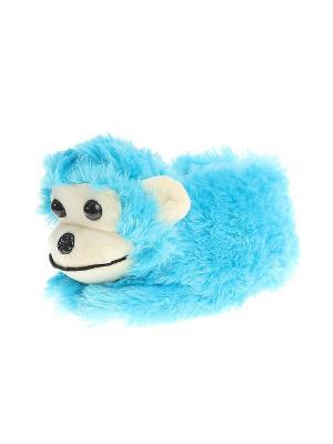 Тапочки домашние детские Migura. Цвет: голубой, бежевый, черный