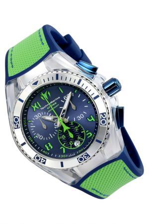 Watch TechnoMarine. Цвет: silver, blue, green