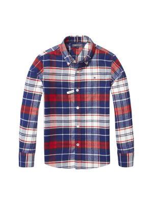 Рубашка Tommy Hilfiger. Цвет: синий, красный