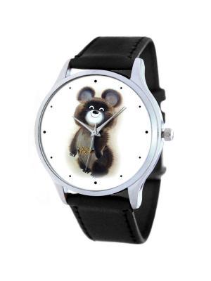Дизайнерские часы Олимпийский Мишка Tina Bolotina. Цвет: серо-коричневый