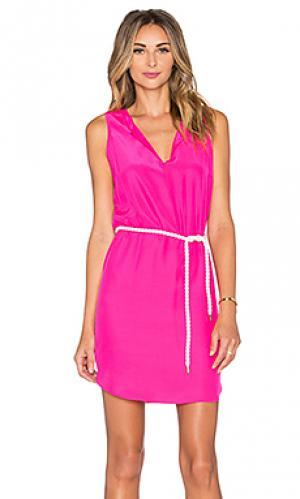 Мини платье antigua Amanda Uprichard. Цвет: розовый