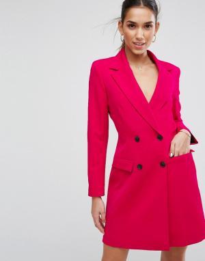ASOS Розовый удлиненный блейзер Tailored. Цвет: розовый
