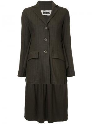 Приталенный пиджак Uma Wang. Цвет: коричневый