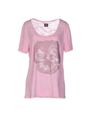 Футболка E.VIL. Цвет: розовый