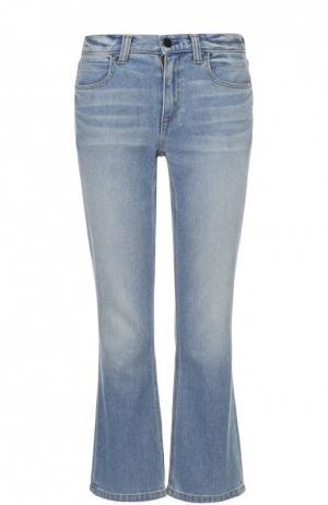 Укороченные расклешенные джинсы Denim X Alexander Wang. Цвет: голубой